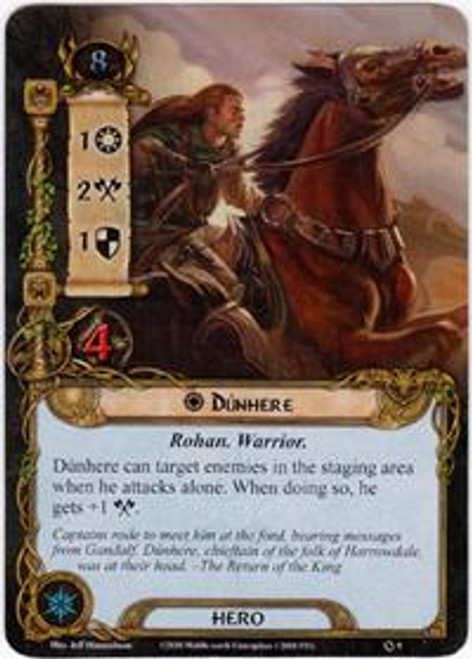 The Lord of the Rings The Card Game Core Set Rare Dunhere #9