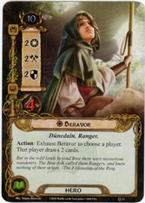 The Lord of the Rings The Card Game Core Set Rare Beravor #12