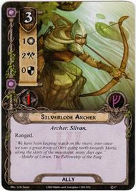 The Lord of the Rings The Card Game Core Set Uncommon Silverlode Archer #17