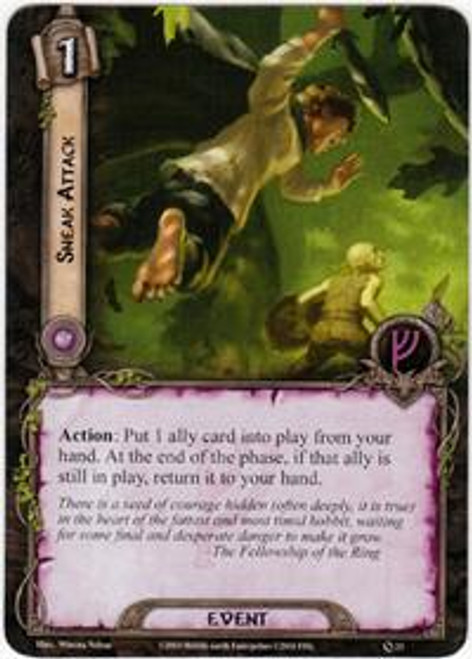 The Lord of the Rings The Card Game Core Set Uncommon Sneak Attack #23