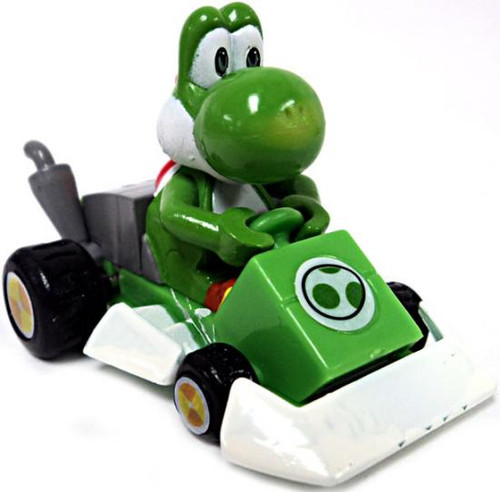Super Mario Mario Kart Gacha Yoshi 1 1/2-Inch Pull Back Racer [Square Front Bumper]