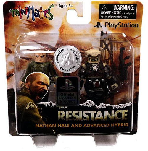 Sony PlayStation Resistance Minimates Nathan Hale & Advanced Hybrid Exclusive Minifigure 2-Pack