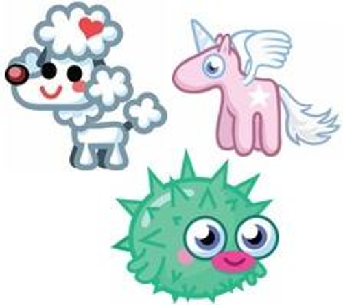 Moshi Monsters Moshlings Set of 3 Random 1 1/2-Inch Mini Figures