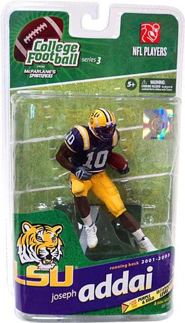 McFarlane Toys NCAA College Football Sports Picks Series 3 Joseph Addai Action Figure [Purple Jersey]