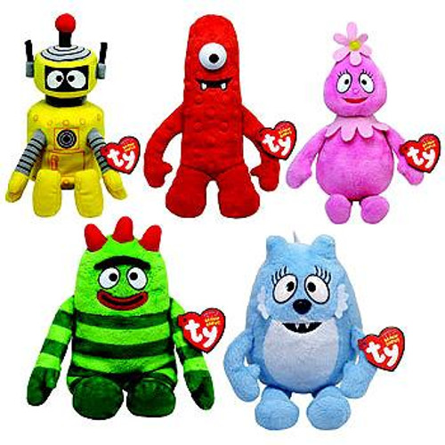 Beanie Babies Yo Gabba Gabba Set of 5 Plush Figures