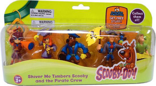 Scooby Doo Shiver Me Timbers Scooby and the Pirate Crew Mini Figure 5-Pack