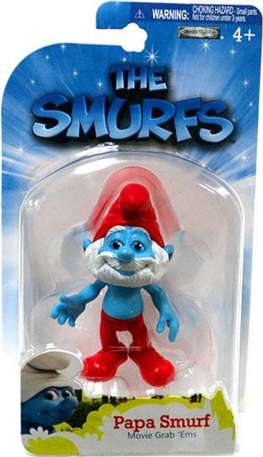 The Smurfs Movie Grab 'Ems Papa Smurf Mini Figure