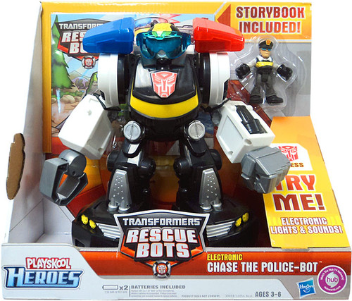 Transformers Rescue Bots Playskool Heroes Electronic Chase The Police-Bot Action Figure