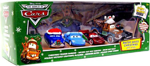 Disney Cars The World of Cars Story Tellers Mater Saves Christmas Gift Pack Exclusive Diecast Car Set