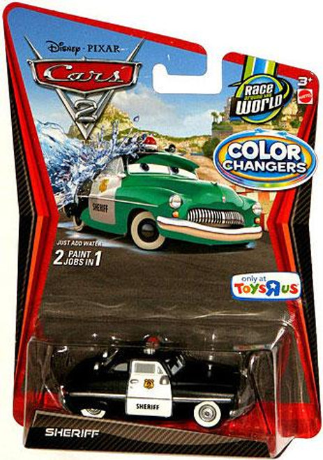Disney Cars Cars 2 Color Changers Sheriff Exclusive Diecast Car