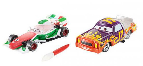 Disney Cars Cars 2 Color Changers Francesco Bernoulli & Darrel Cartrip Exclusive Diecast Car