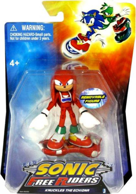 Sonic The Hedgehog Free Riders Knuckles Action Figure