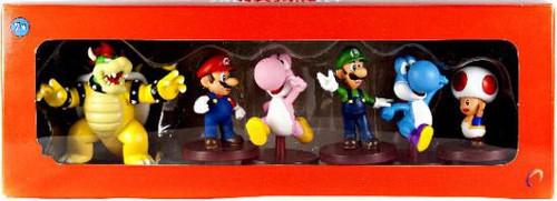Super Mario Mini Figure Collection 6-Pack Collector Set Mini Figures