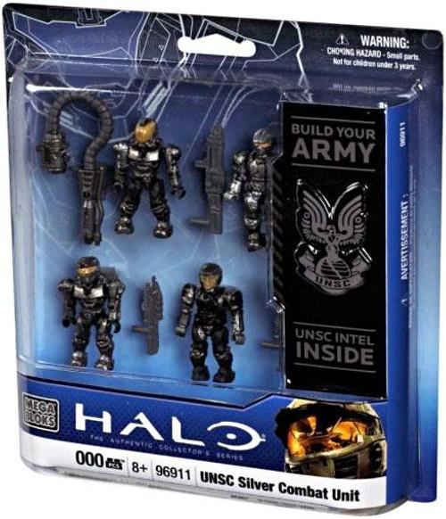 Mega Bloks Halo UNSC Silver Combat Unit Set #96911