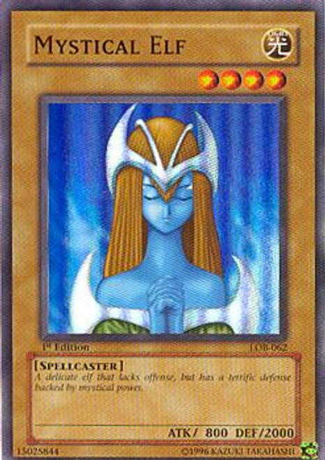 YuGiOh Legend of Blue Eyes White Dragon Super Rare Mystical Elf LOB-062