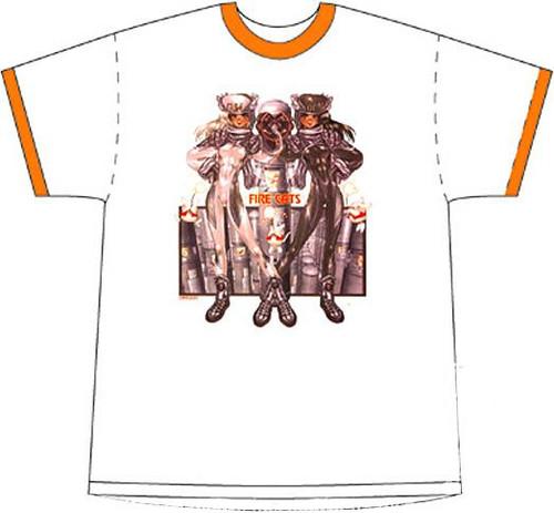 Intron Depot Fire Cats T-Shirt [Medium]