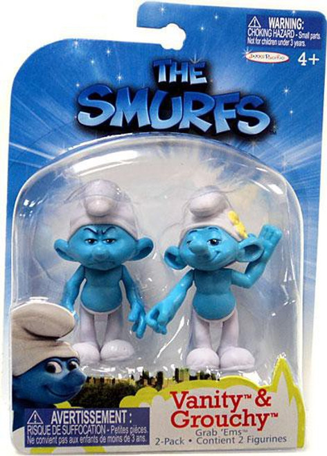 The Smurfs Movie Grab 'Ems Vanity & Grouchy Mini Figure 2-Pack