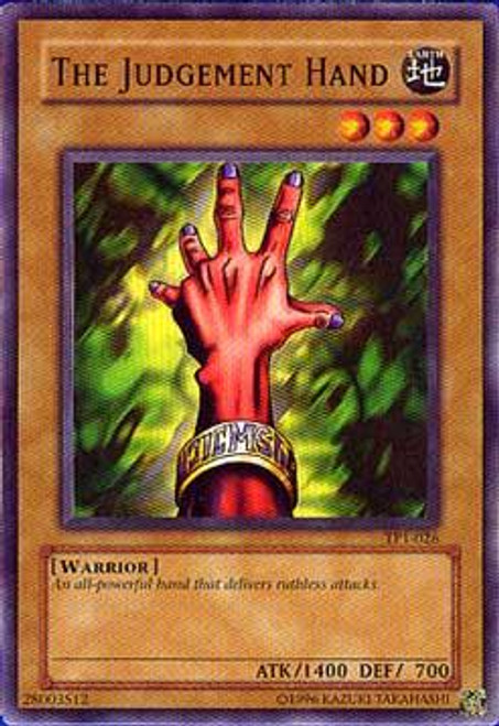 YuGiOh Tournament Pack 1 Common The Judgement Hand TP1-026