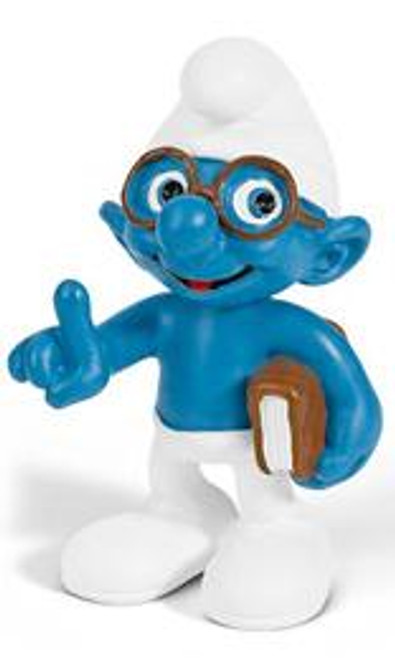 The Smurfs Brainy Smurf Mini Figure [With Book]