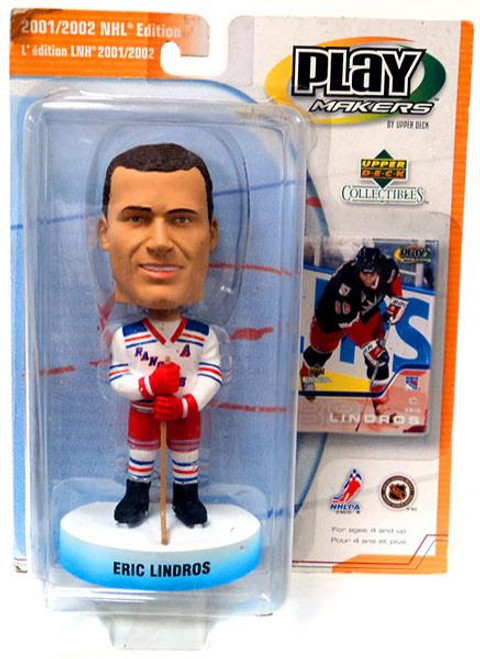 NHL New York Rangers PlayMakers Eric Lindros Bobble Head [Damaged Package]