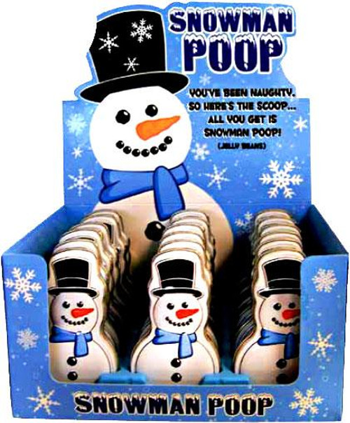 Candy Snowman Poop Candy Tin [Fruity Jelly Beans]