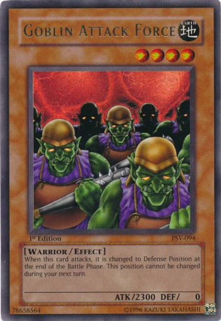 YuGiOh Pharaoh's Servant Ultra Rare Goblin Attack Force PSV-094