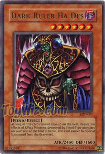 YuGiOh Legacy of Darkness Ultra Rare Dark Ruler Ha Des LOD-001