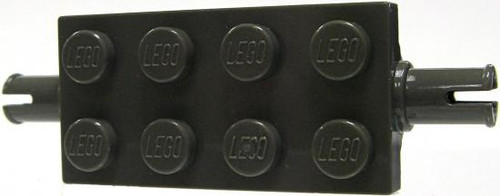 LEGO Pieces 2x4 Gray Tile with Axle [Loose]