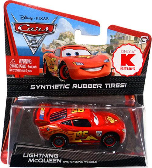 Disney Cars Cars 2 Synthetic Rubber Tires Lightning McQueen Exclusive Diecast Car