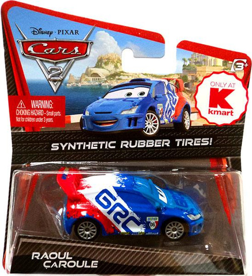 Disney Cars Cars 2 Synthetic Rubber Tires Raoul CaRoule Exclusive Diecast Car