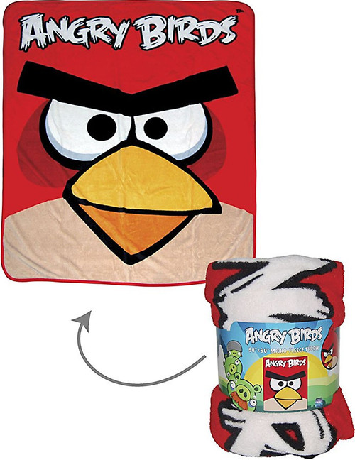 Angry Birds Micro Fleece Throw 50-Inch x 60-Inch Plush Blanket