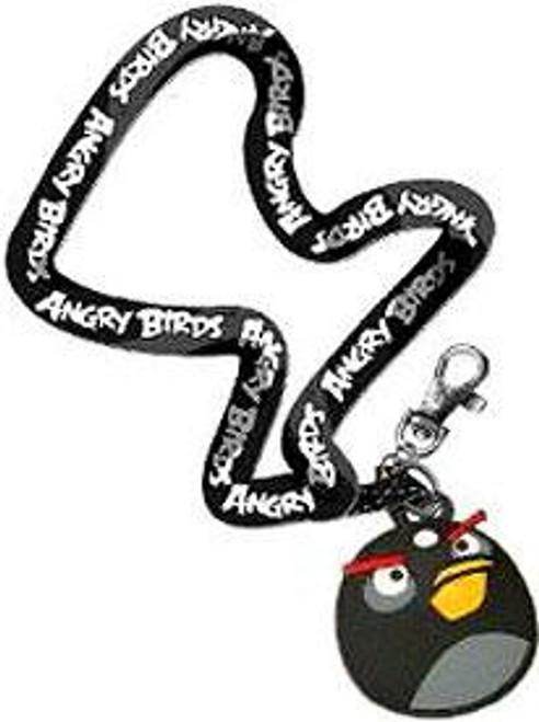 Angry Birds Black Bird Lanyard Keychain