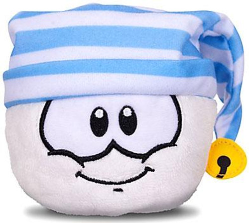 Club Penguin Series 11 White Puffle 4-Inch Plush [Striped Hat]