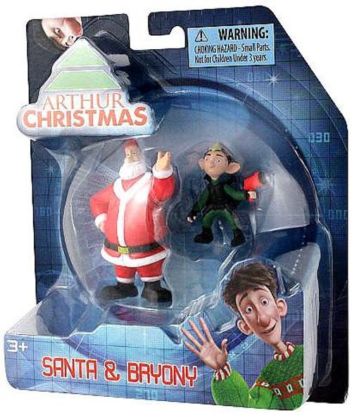 Arthur Christmas Santa & Bryony Mini Figure 2-Pack