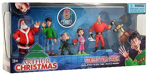 Arthur Christmas Collector Pack Mini Figure 6-Pack