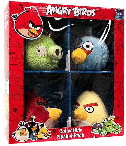 Angry Birds Collectible 4-Pack 4-Inch Plush [Set #2]
