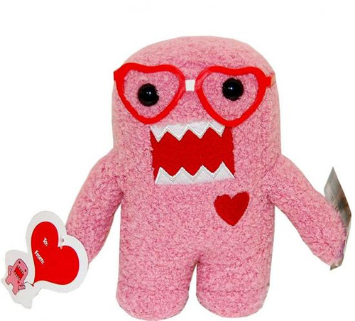 Valentine's Day Nerd Domo 6.5-Inch Plush Figure [Heart Glasses]