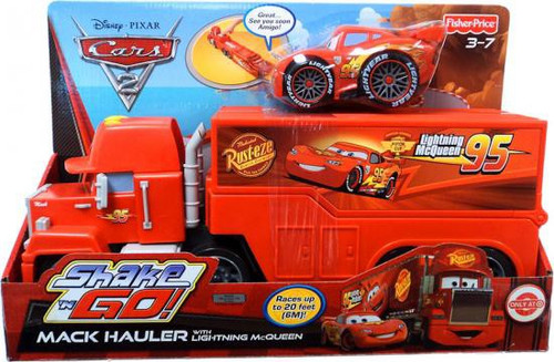 Fisher Price Disney Cars Cars 2 Shake 'N Go Mack Hauler Exclusive Shake 'N Go Car [With Lightning McQueen]