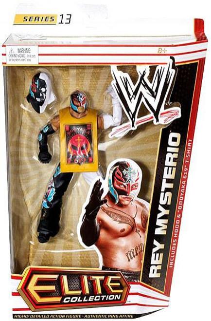 WWE Wrestling Elite Series 13 Rey Mysterio Action Figure [Hood & Booyaka 619 T-Shirt]