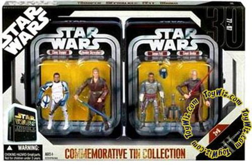 Star Wars Attack of the Clones Exclusives 2006 Episode II Commemorative Tin Collection Exclusive Action Figure Set #2 of 6