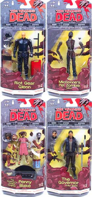 McFarlane Toys Walking Dead Comic Book Series 2 Set of 4 Action Figures