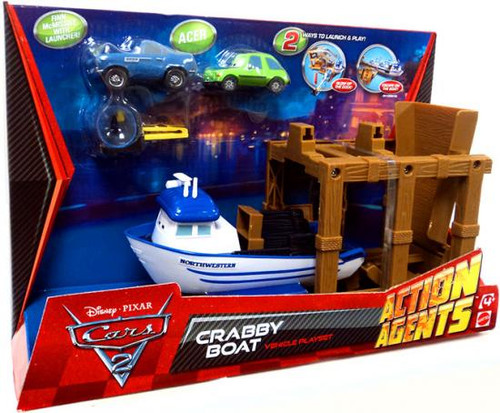 Disney Cars Cars 2 Action Agents Crabby Boat Plastic Car Playset [With Acer]