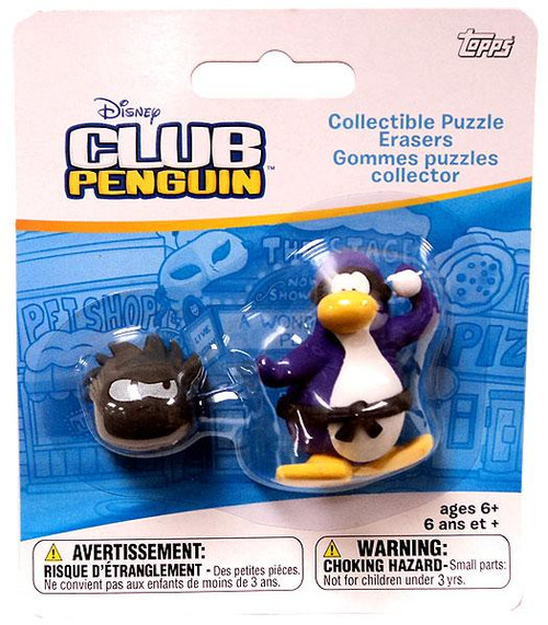 Club Penguin Collectible Puzzle Erasers Purple Penguin & Random Puffle Eraser 2-Pack