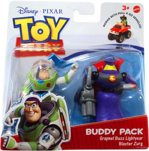 Toy Story Action Links Buddy Pack Grapnel Buzz Lightyear & Blaster Zurg Mini Figure 2-Pack