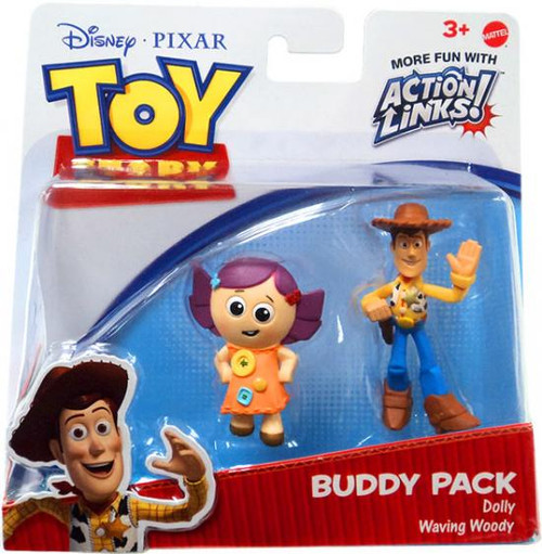 Toy Story Action Links Buddy Pack Dolly & Waving Woody Mini Figure 2-Pack