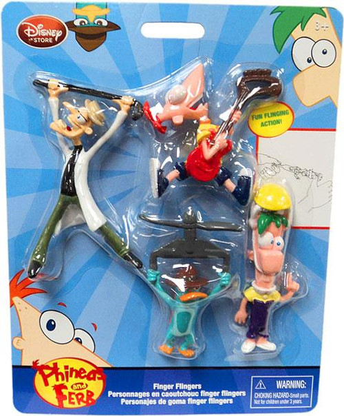 Disney Phineas and Ferb Finger Flickers Exclusive PVC Figures