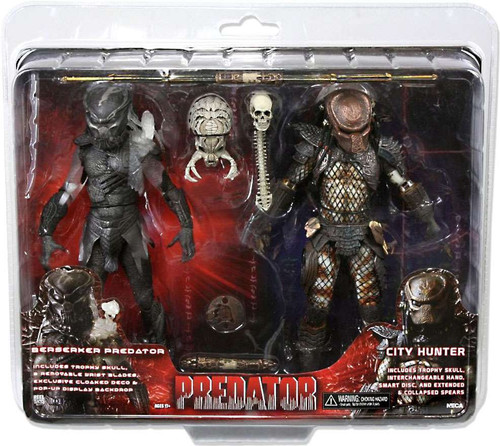 NECA Predators / Predator 2 Berserker Predator & City Hunter Exclusive Action Figure