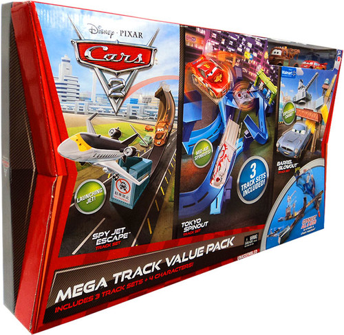 Disney Cars Cars 2 Playsets Mega Track Value Pack Exclusive Diecast Car Playset