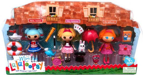 Lalaloopsy Marina Anchors, Misty Mysterious & Bea Spells-a-lot Mini Figure 3-Pack