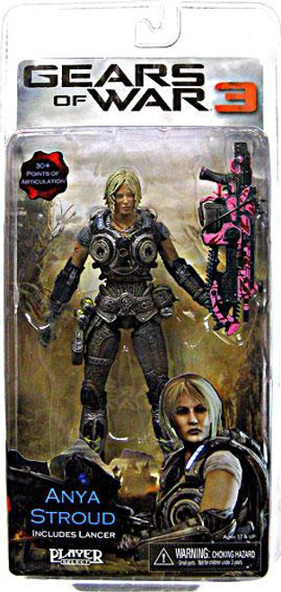 NECA Gears of War 3 Series 1 Anya Stroud Action Figure [Pink Lancer]